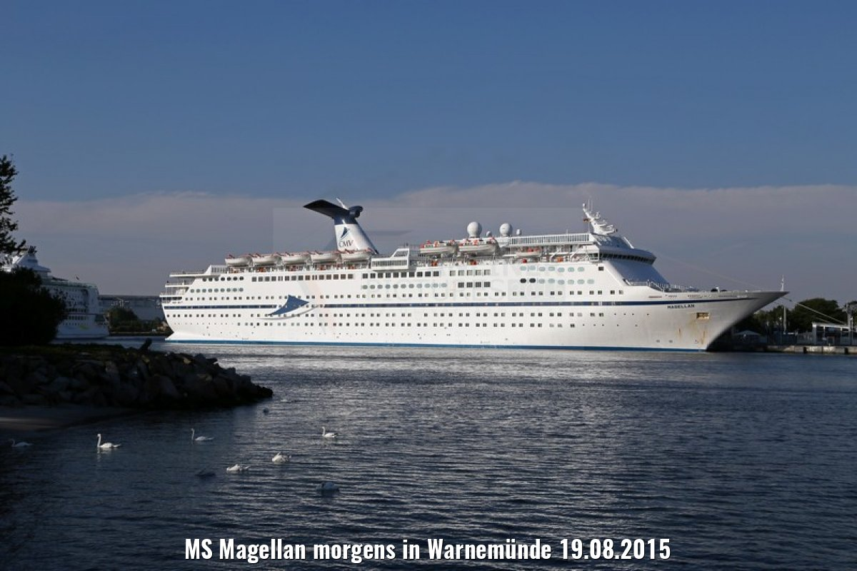 MS Magellan morgens in Warnemünde 19.08.2015