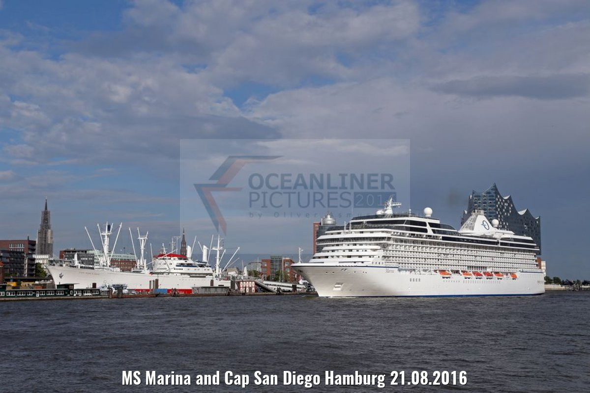 MS Marina and Cap San Diego Hamburg 21.08.2016