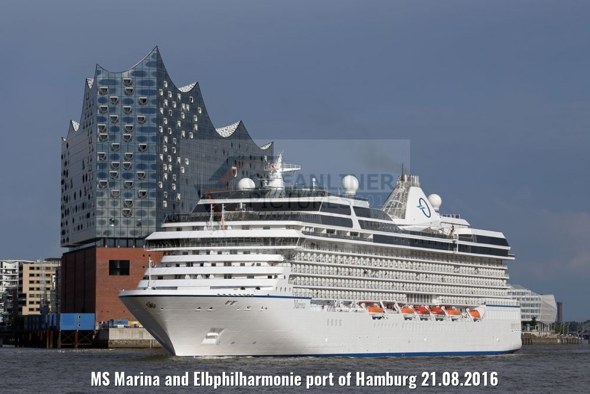 MS Marina and Elbphilharmonie port of Hamburg 21.08.2016