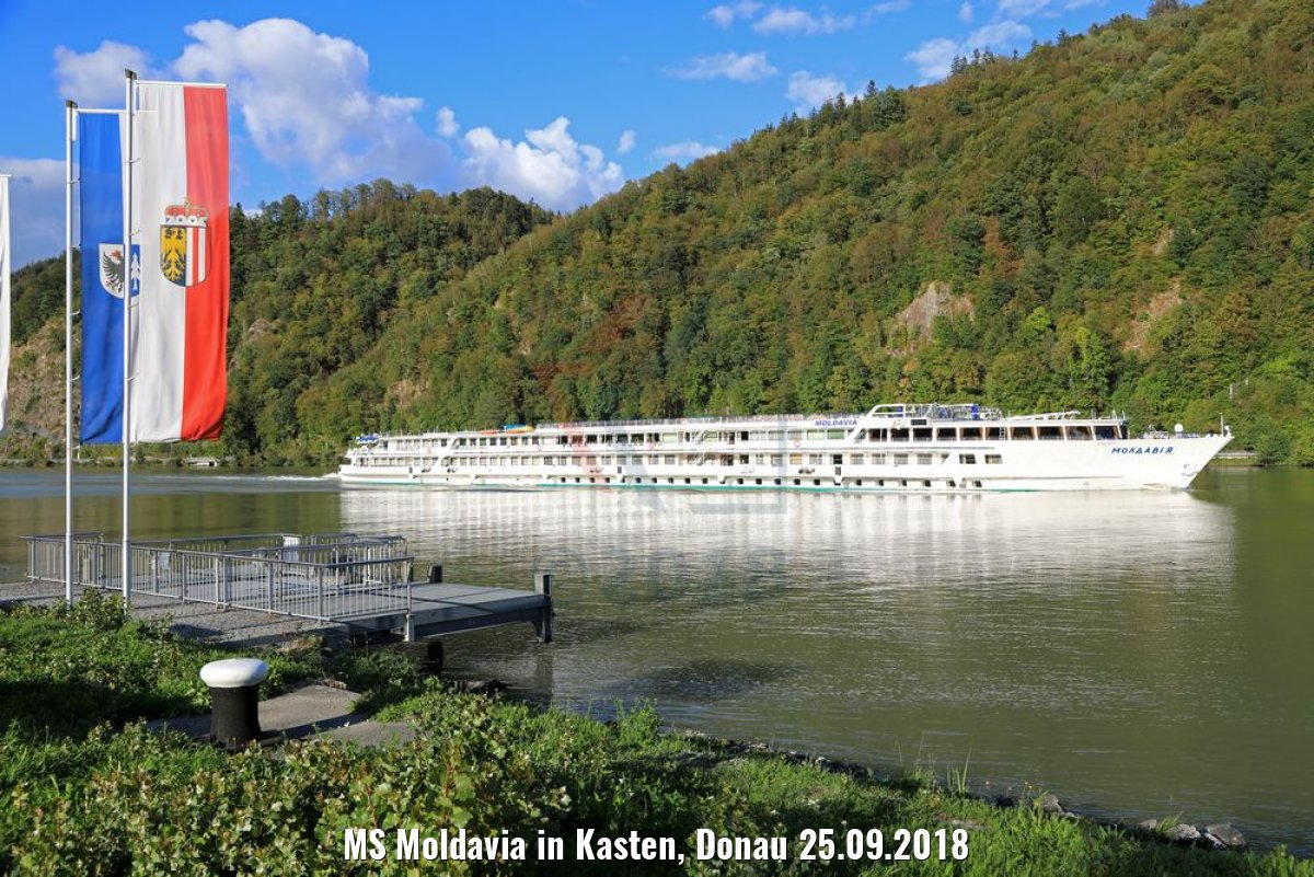 MS Moldavia in Kasten, Donau 25.09.2018