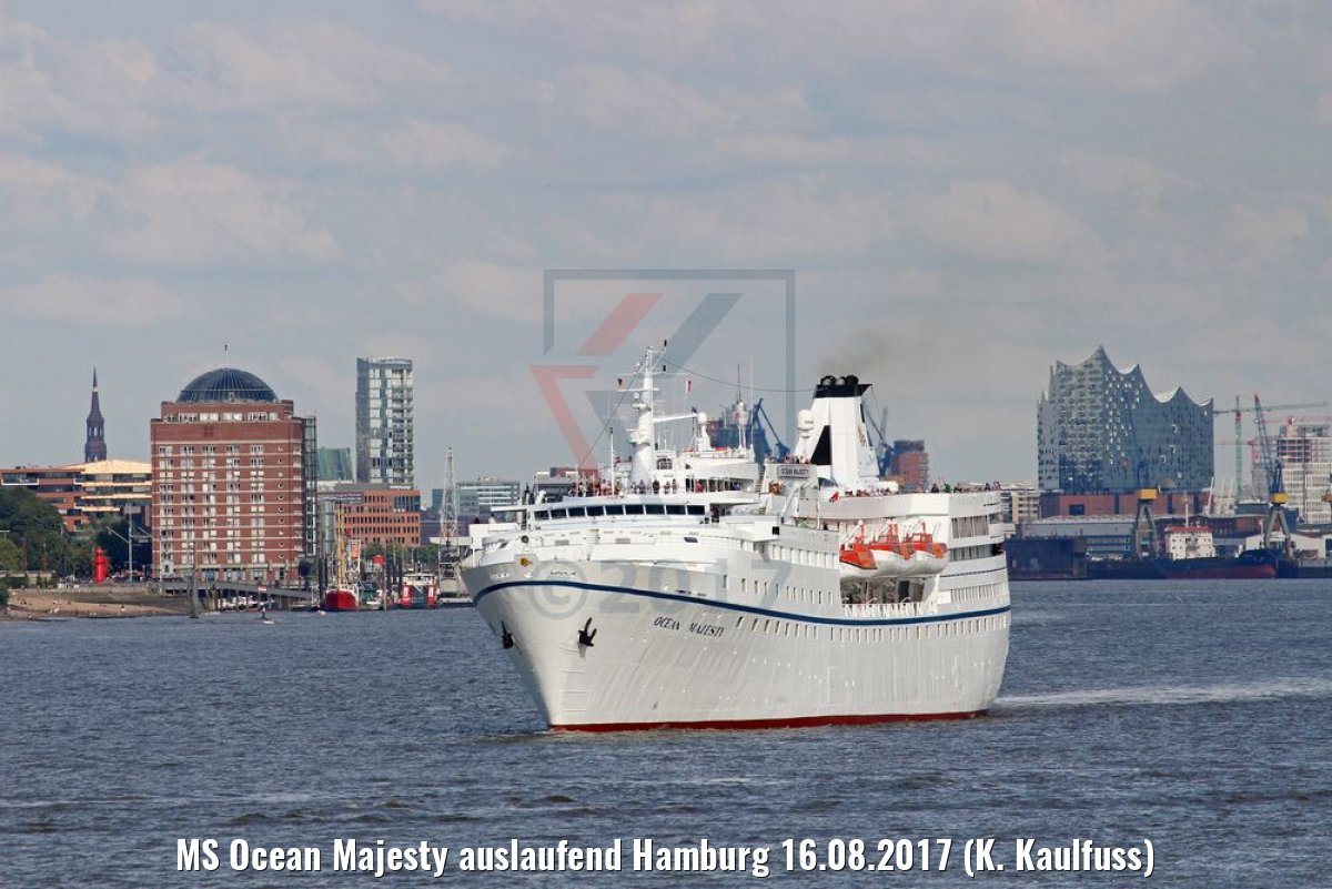 MS Ocean Majesty auslaufend Hamburg 16.08.2017 (K. Kaulfuss)