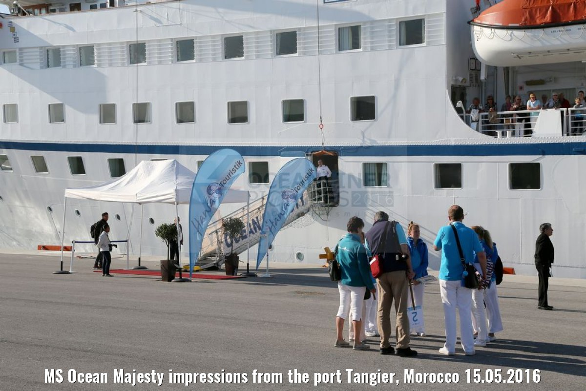 MS Ocean Majesty impressions from the port Tangier, Morocco 15.05.2016