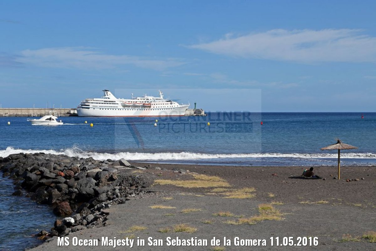 MS Ocean Majesty in San Sebastian de la Gomera 11.05.2016
