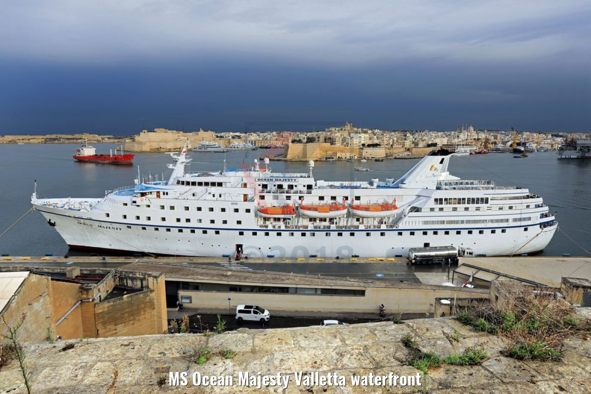 MS Ocean Majesty Valletta waterfront