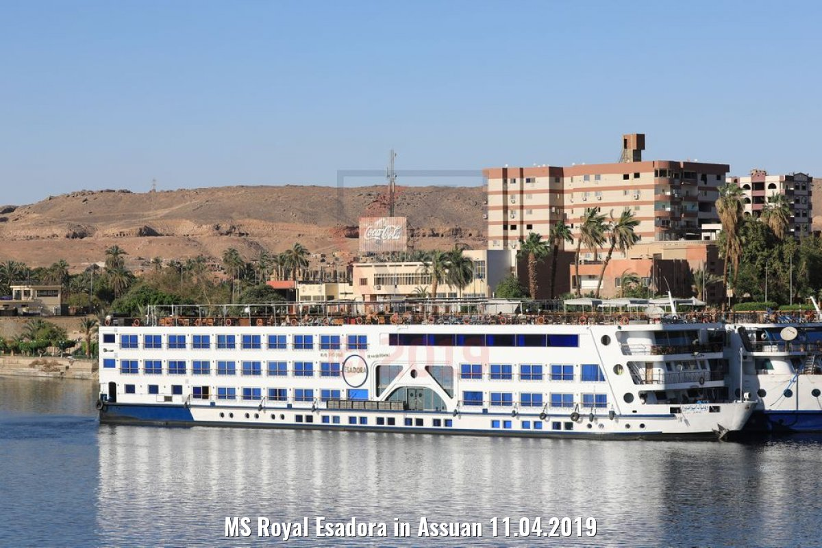 MS Royal Esadora in Assuan 11.04.2019