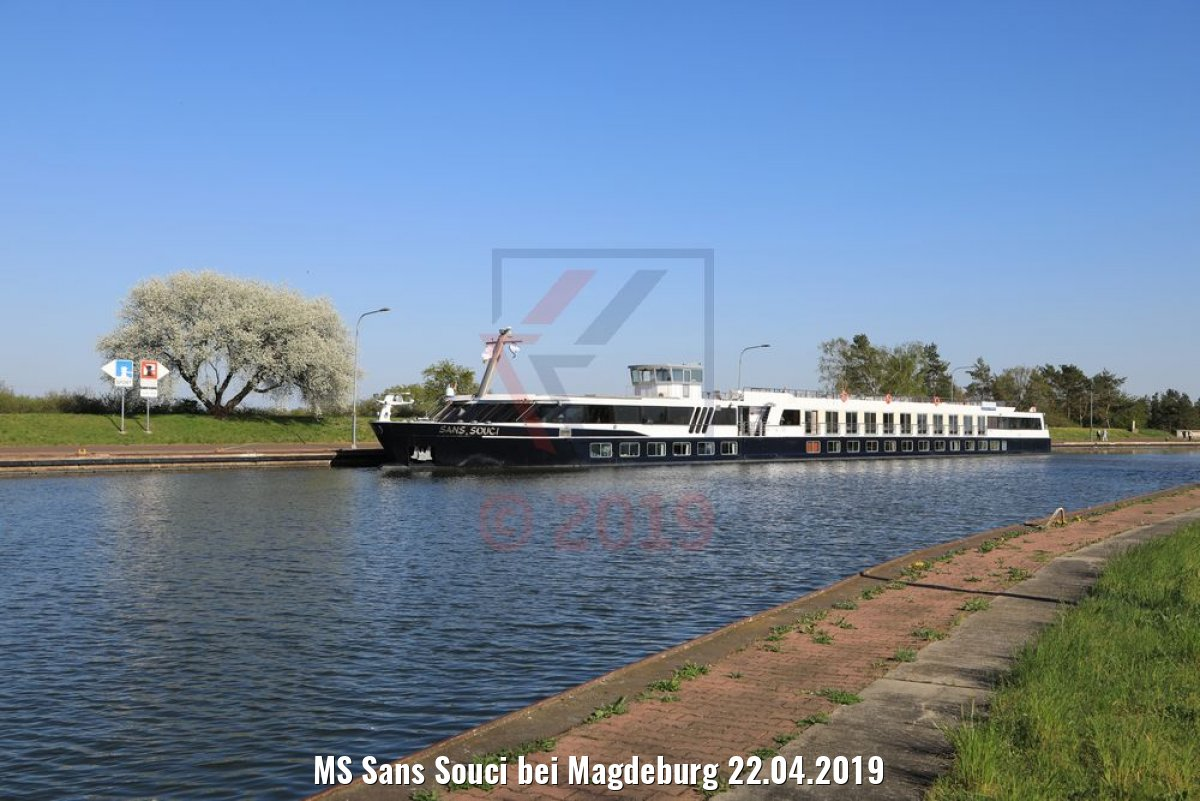 MS Sans Souci bei Magdeburg 22.04.2019