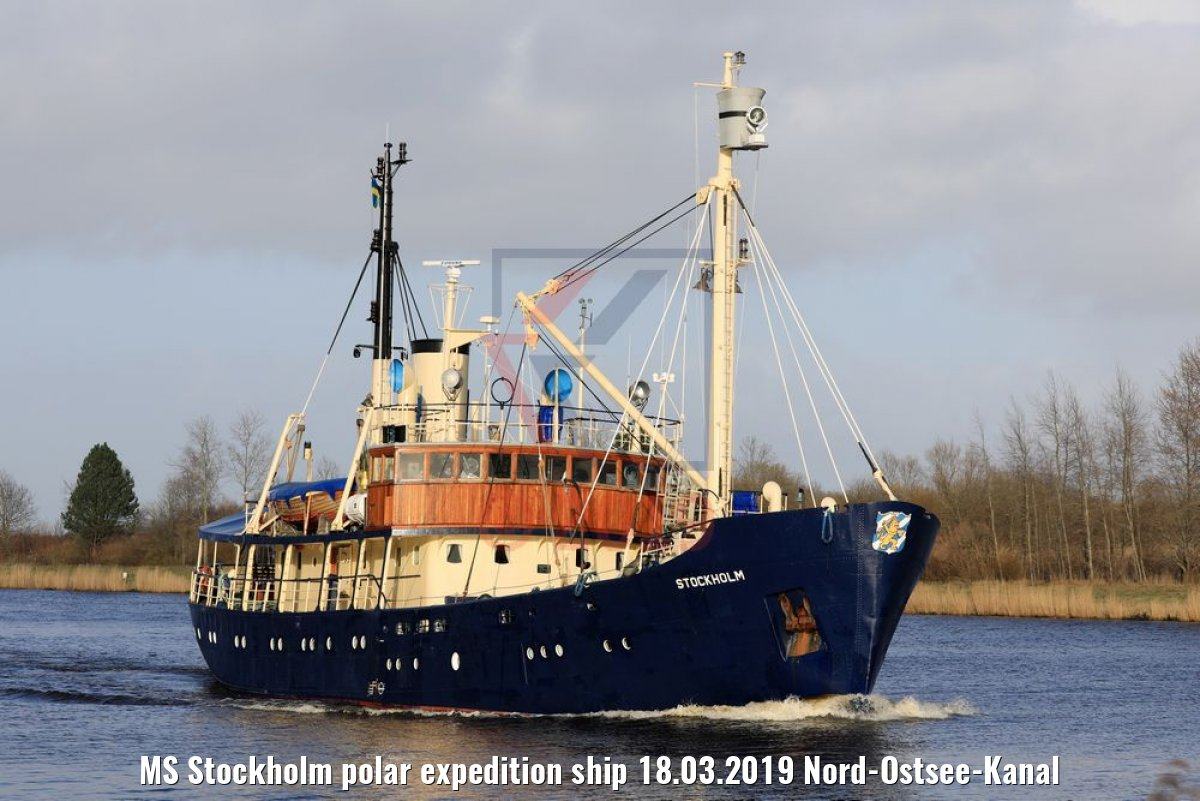 MS Stockholm polar expedition ship 18.03.2019 Nord-Ostsee-Kanal