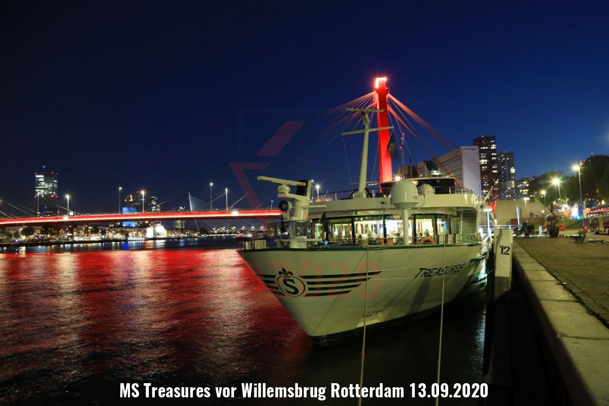 MS Treasures vor Willemsbrug Rotterdam 13.09.2020