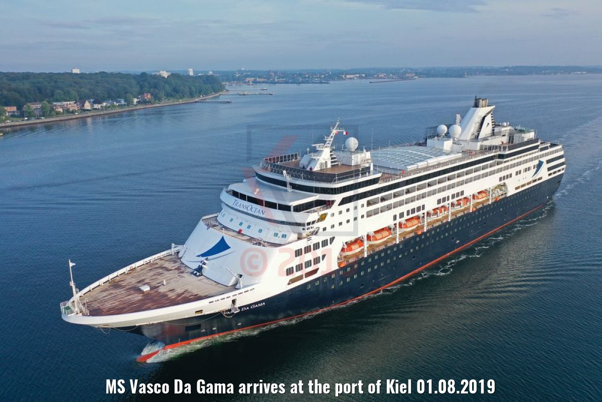 MS Vasco Da Gama arrives at the port of Kiel 01.08.2019