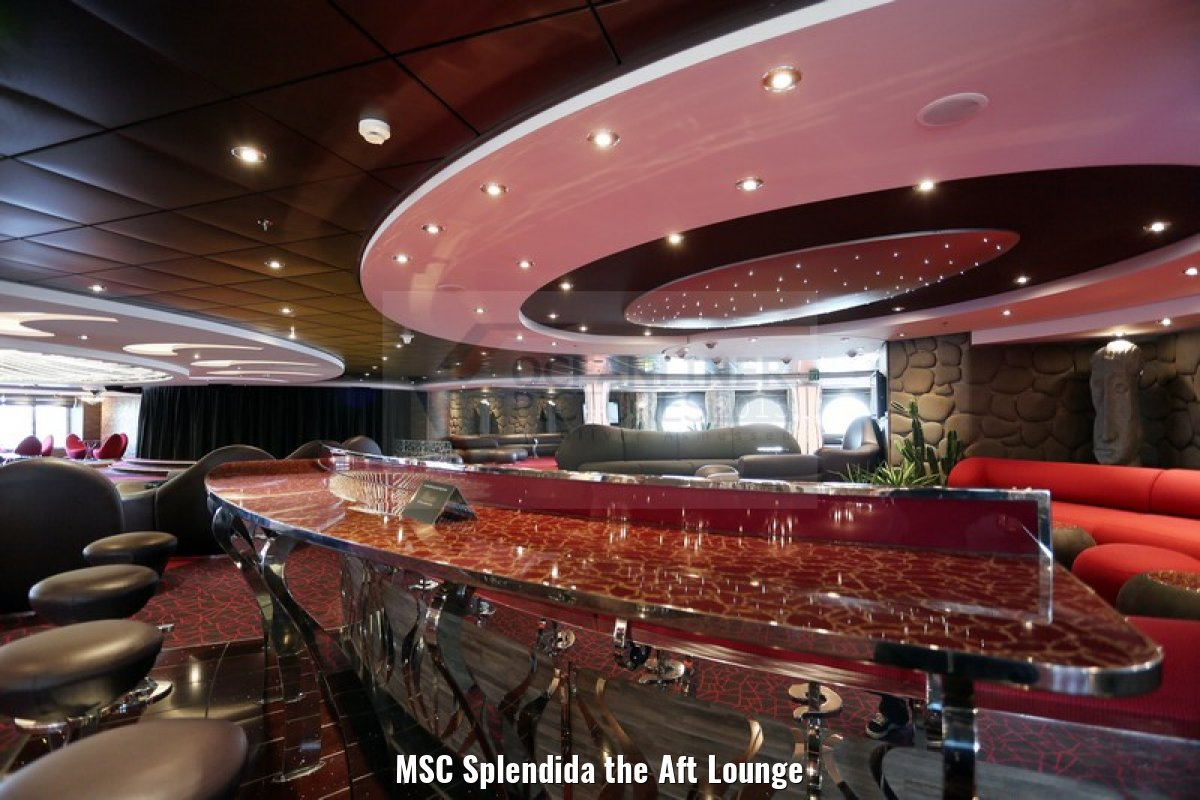 MSC Splendida the Aft Lounge
