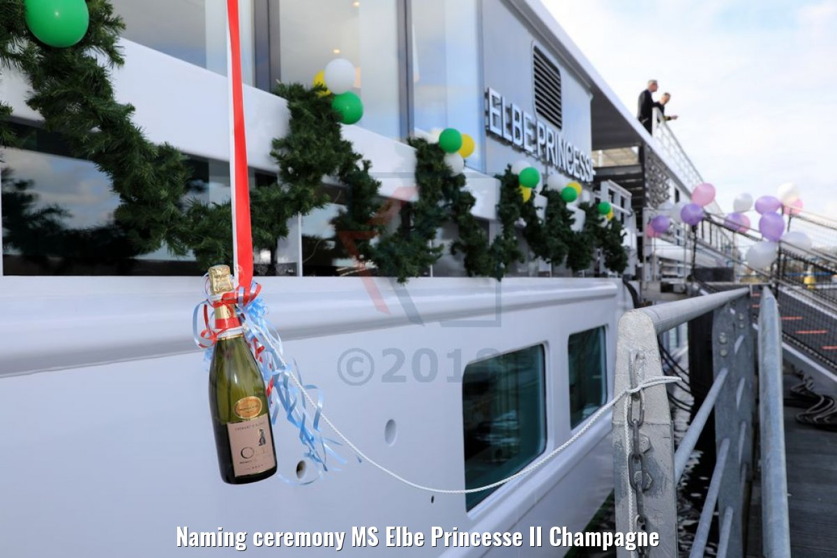 Naming ceremony MS Elbe Princesse II Champagne