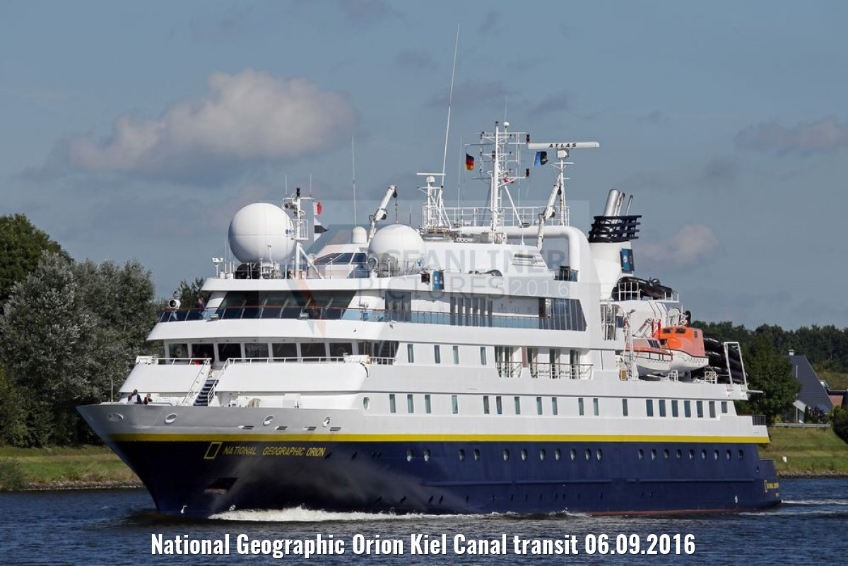 National Geographic Orion Kiel Canal transit 06.09.2016