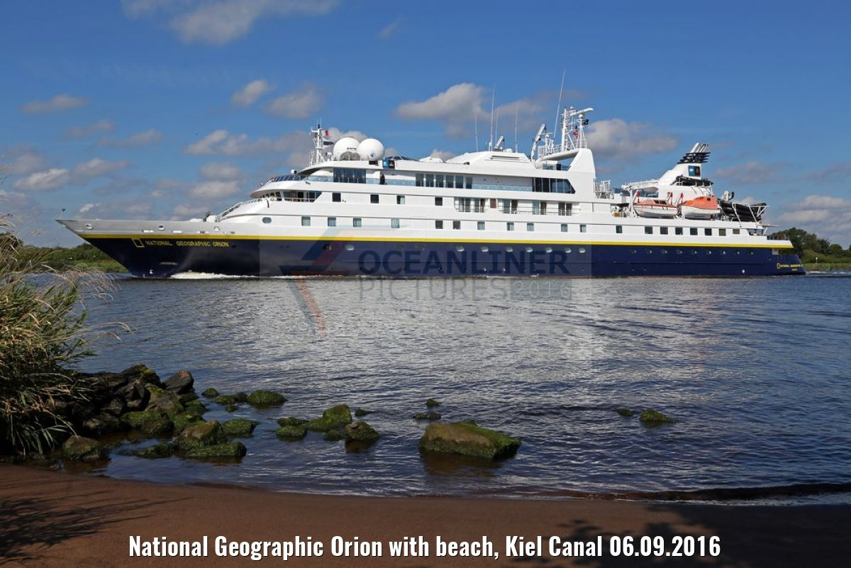 National Geographic Orion with beach, Kiel Canal 06.09.2016