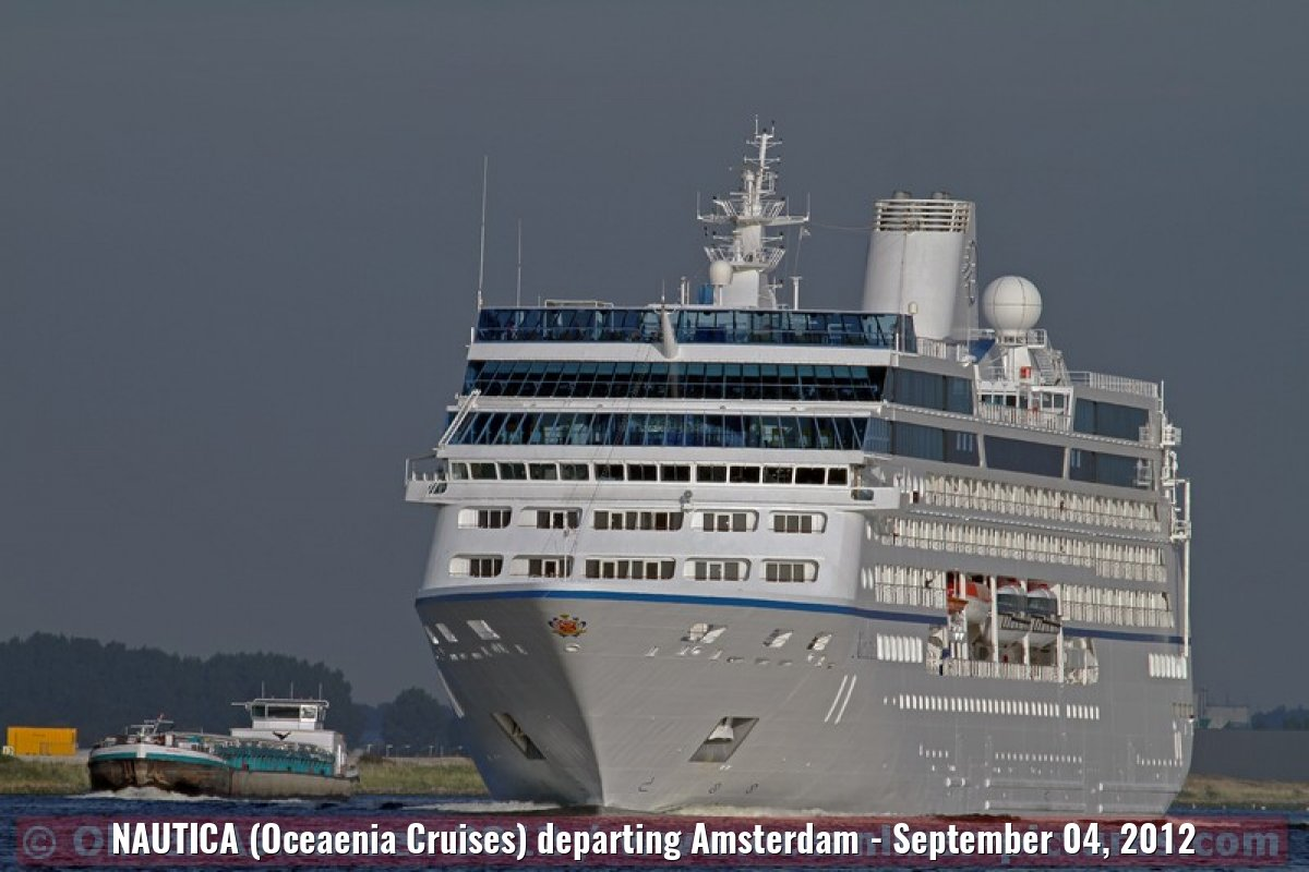 NAUTICA (Oceaenia Cruises) departing Amsterdam - September 04, 2012