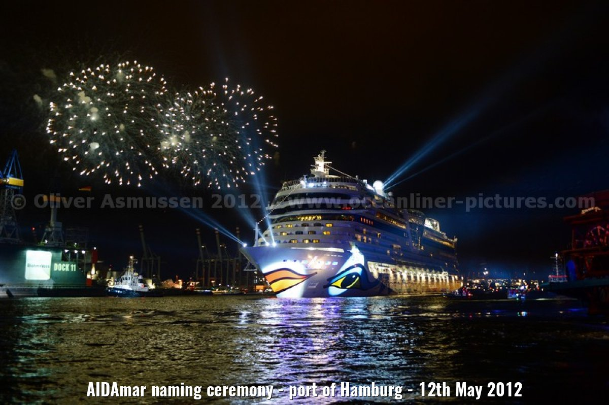 AIDAmar naming ceremony - port of Hamburg - 12th May 2012