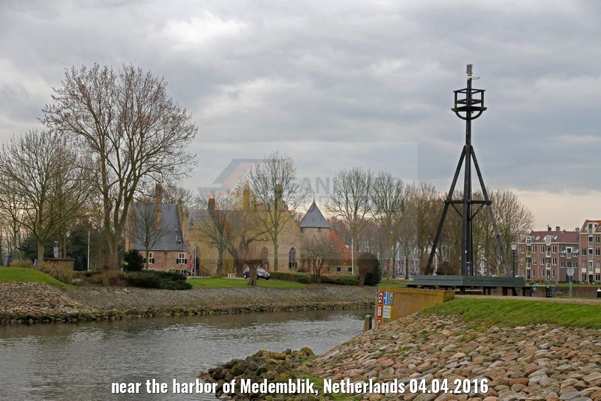 near the harbor of Medemblik, Netherlands 04.04.2016