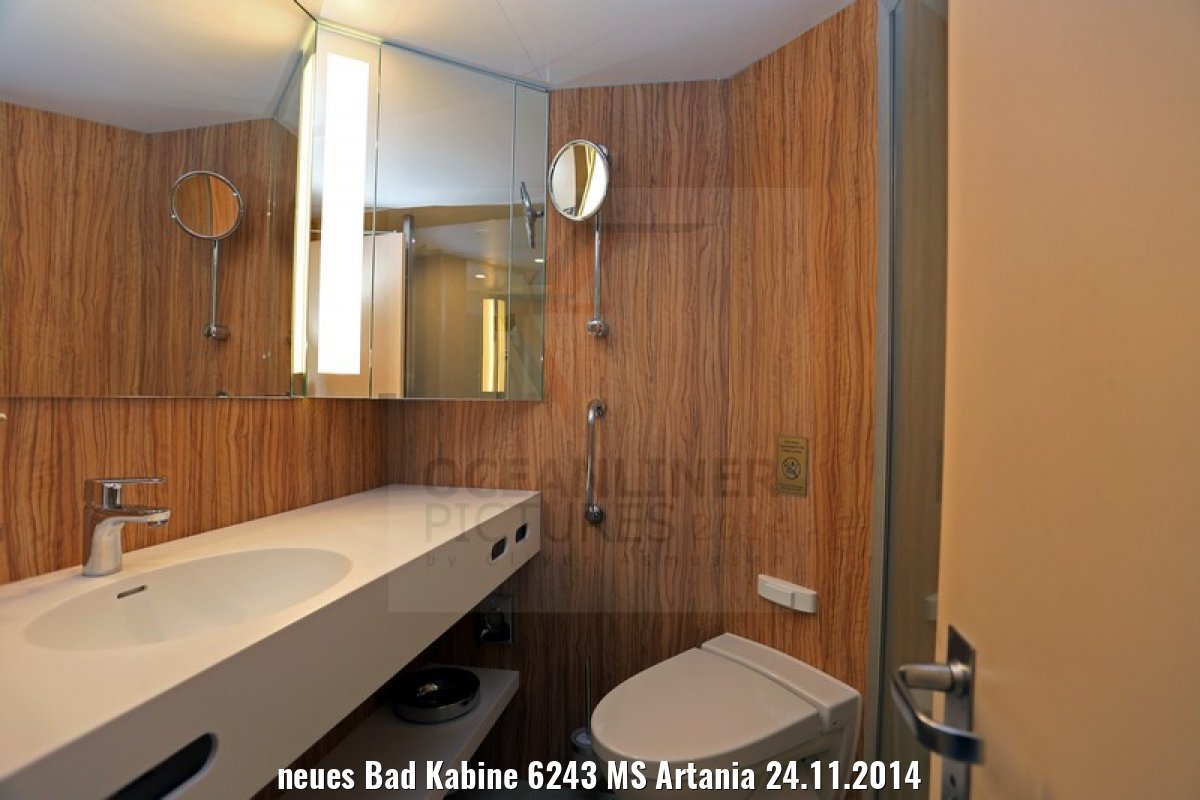 neues Bad Kabine 6243 MS Artania 24.11.2014