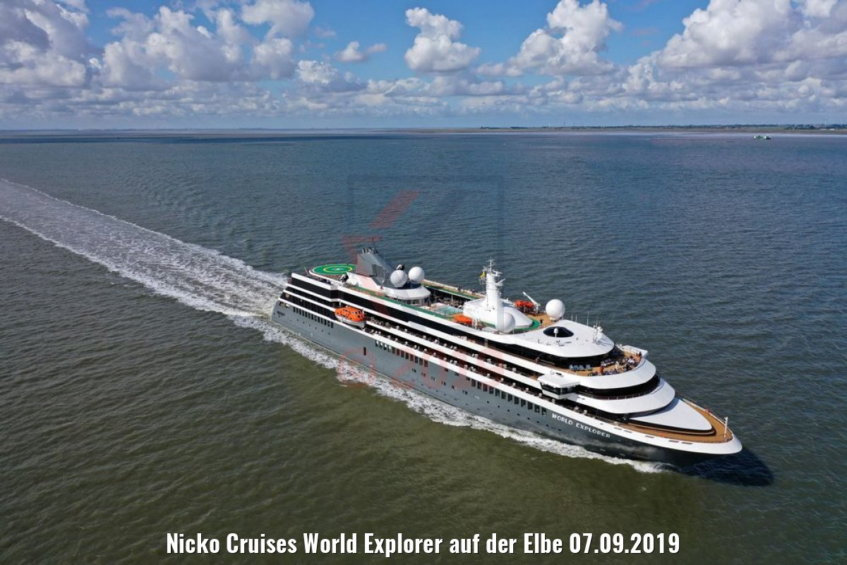 Nicko Cruises World Explorer auf der Elbe 07.09.2019