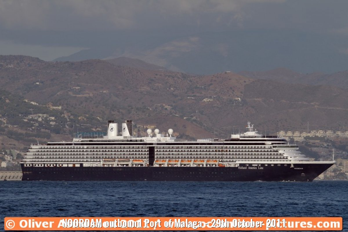 NOORDAM outbound Port of Malaga - 29th October 2011