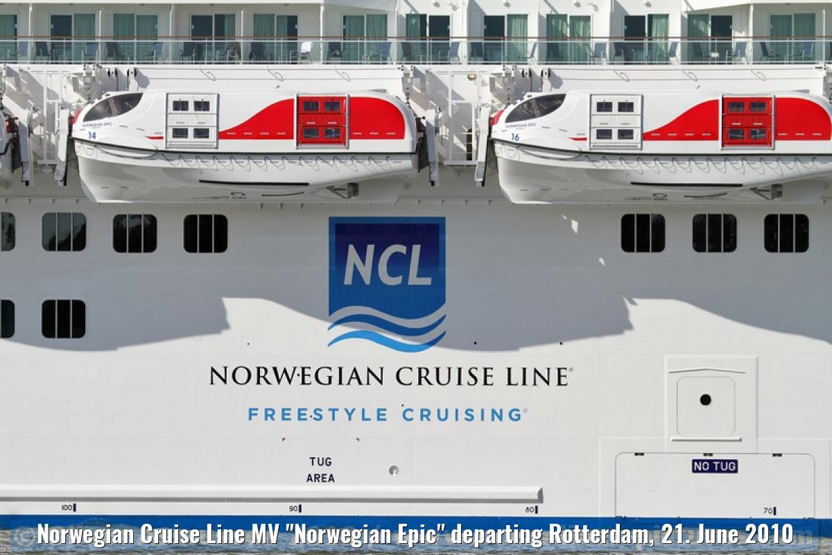 "Norwegian Cruise Line MV ""Norwegian Epic"" departing Rotterdam, 21. June 2010"