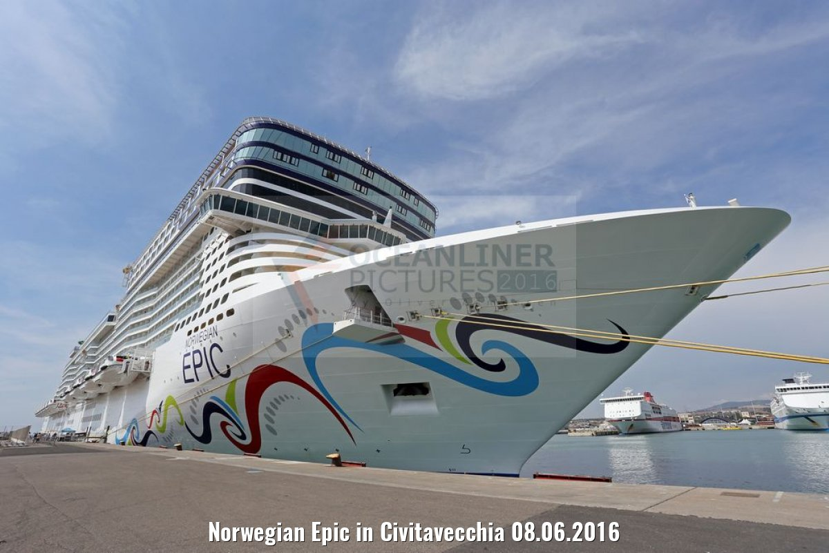 Norwegian Epic in Civitavecchia 08.06.2016
