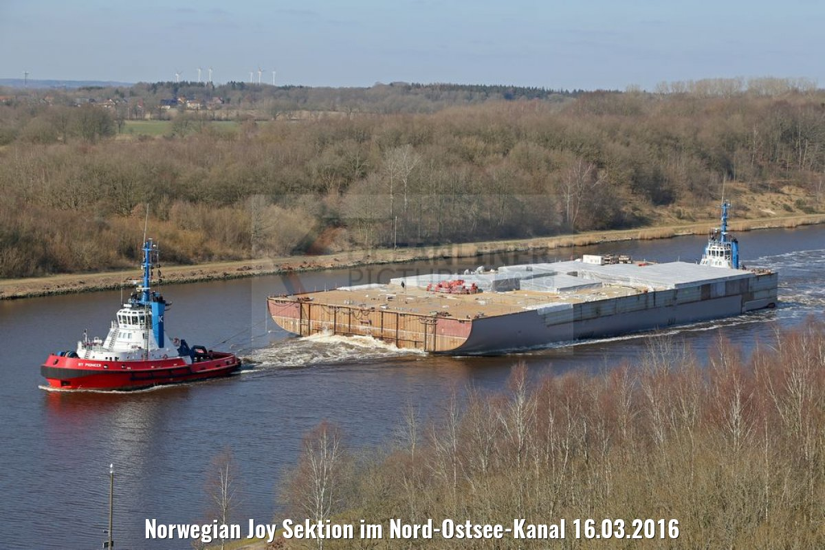 Norwegian Joy Sektion im Nord-Ostsee-Kanal 16.03.2016