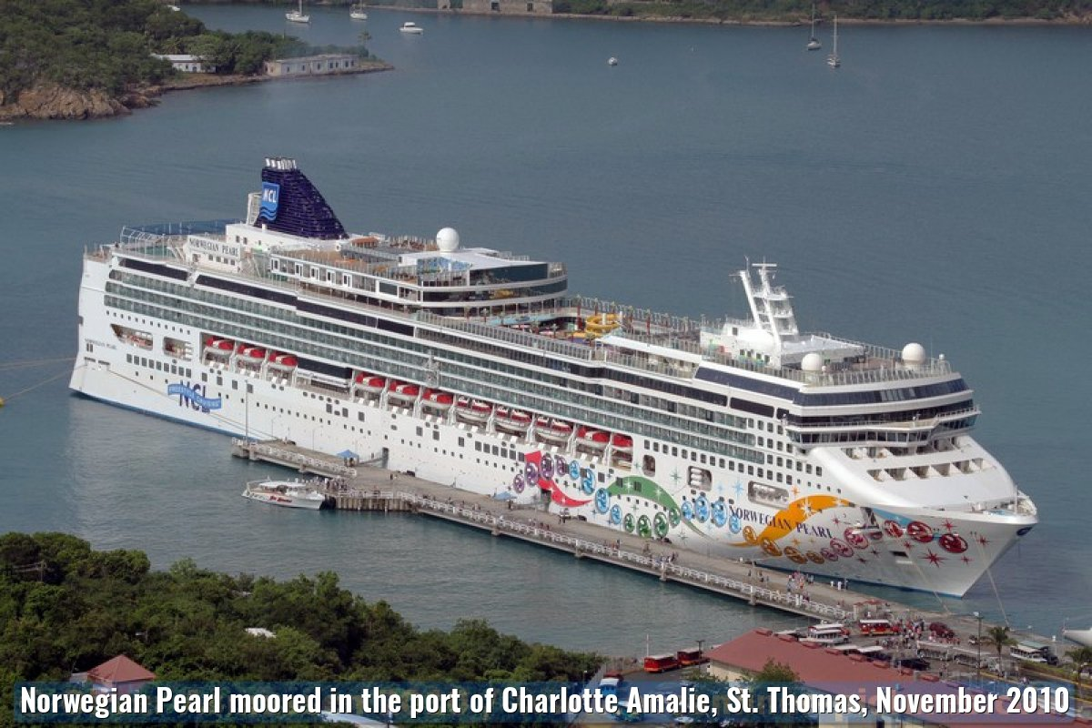 Norwegian Pearl moored in the port of Charlotte Amalie, St. Thomas, November 2010