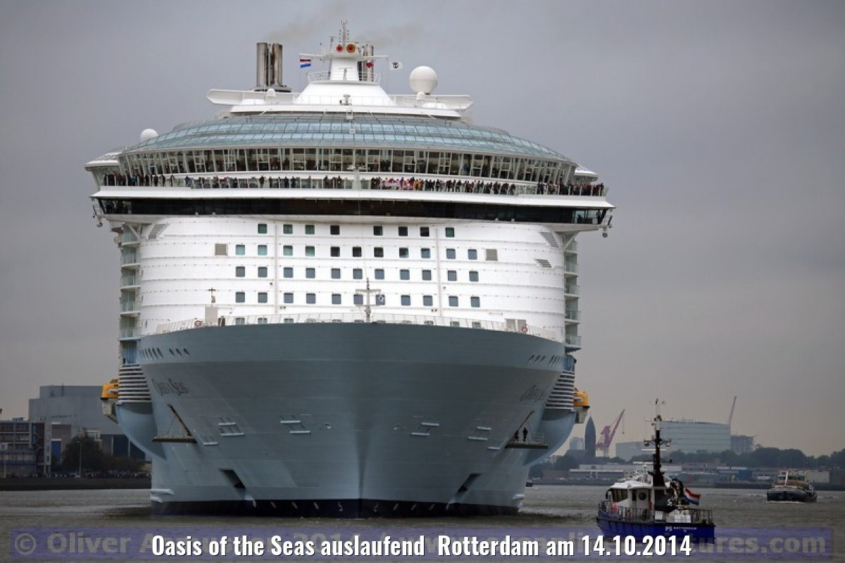 Oasis of the Seas auslaufend Rotterdam am 14.10.2014