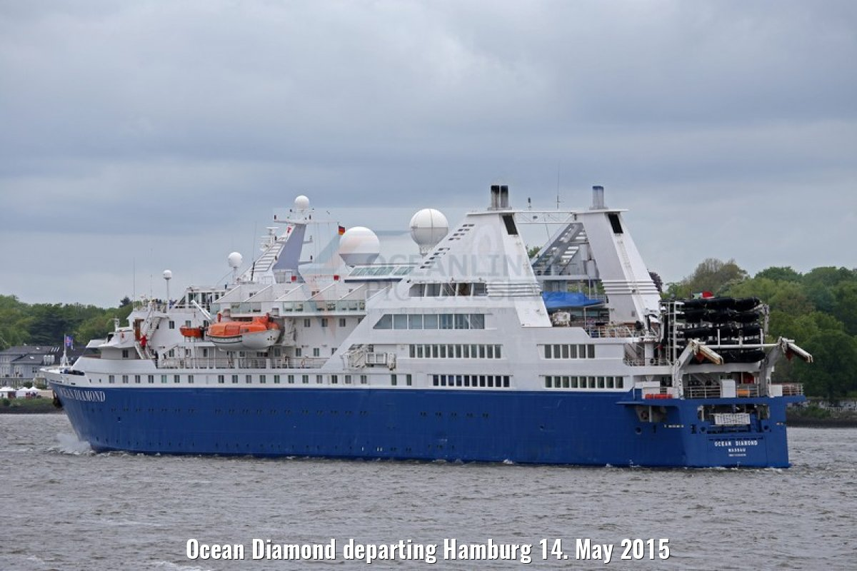 Ocean Diamond departing Hamburg 14. May 2015