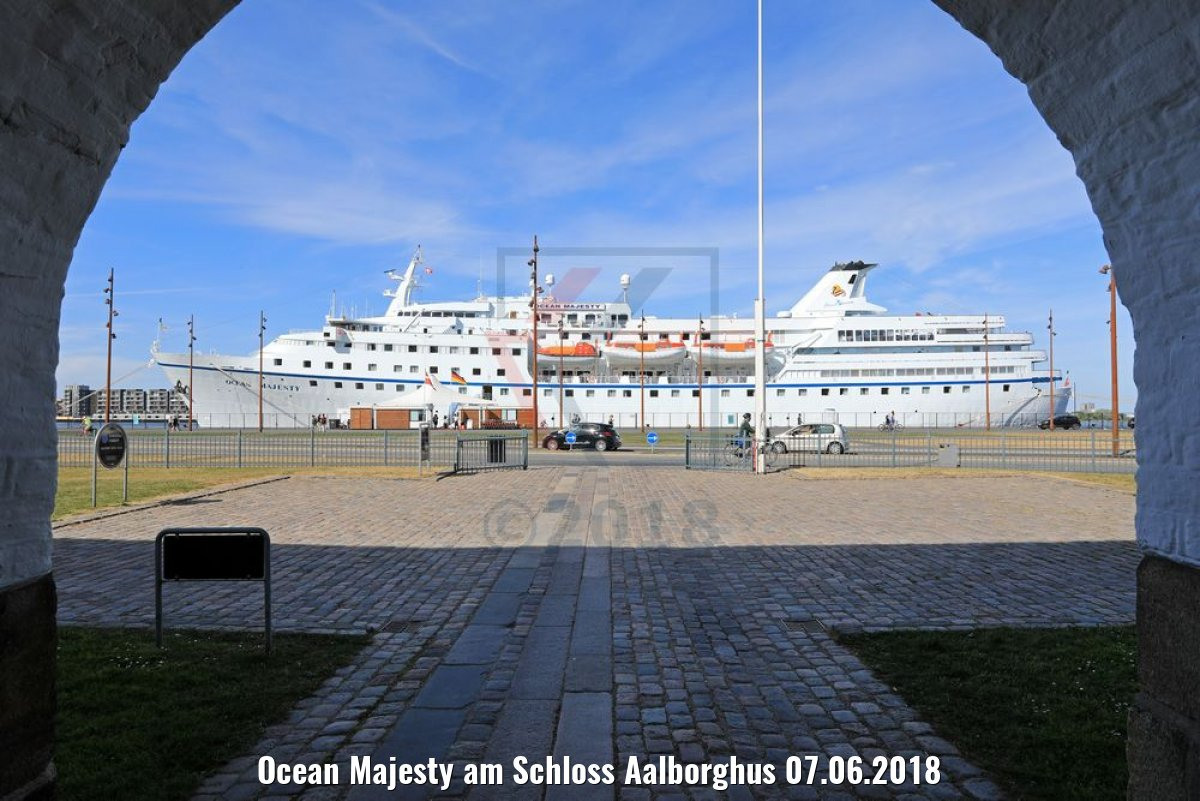 Ocean Majesty am Schloss Aalborghus 07.06.2018