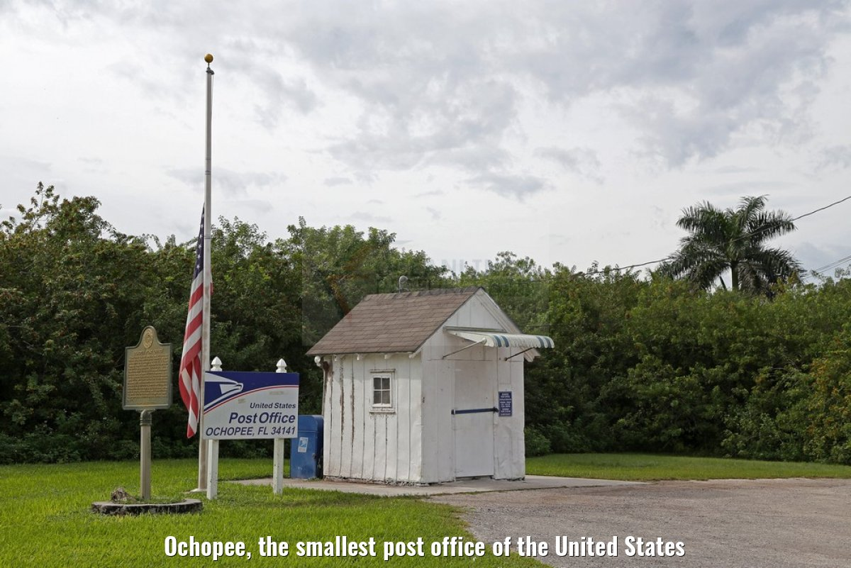 Ochopee, the smallest post office of the United States