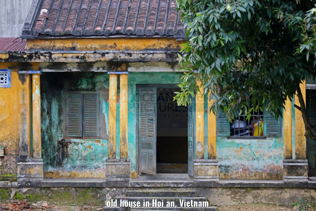 old house in Hoi an, Vietnam