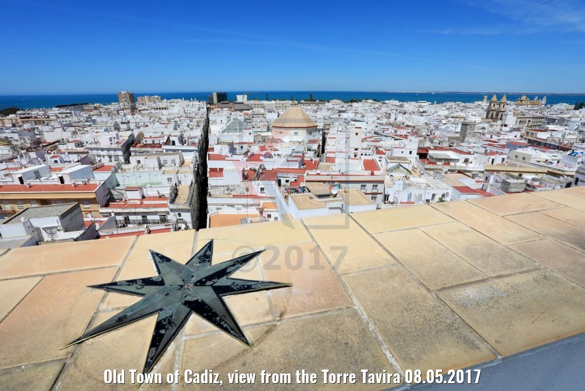 Old Town of Cadiz, view from the Torre Tavira 08.05.2017