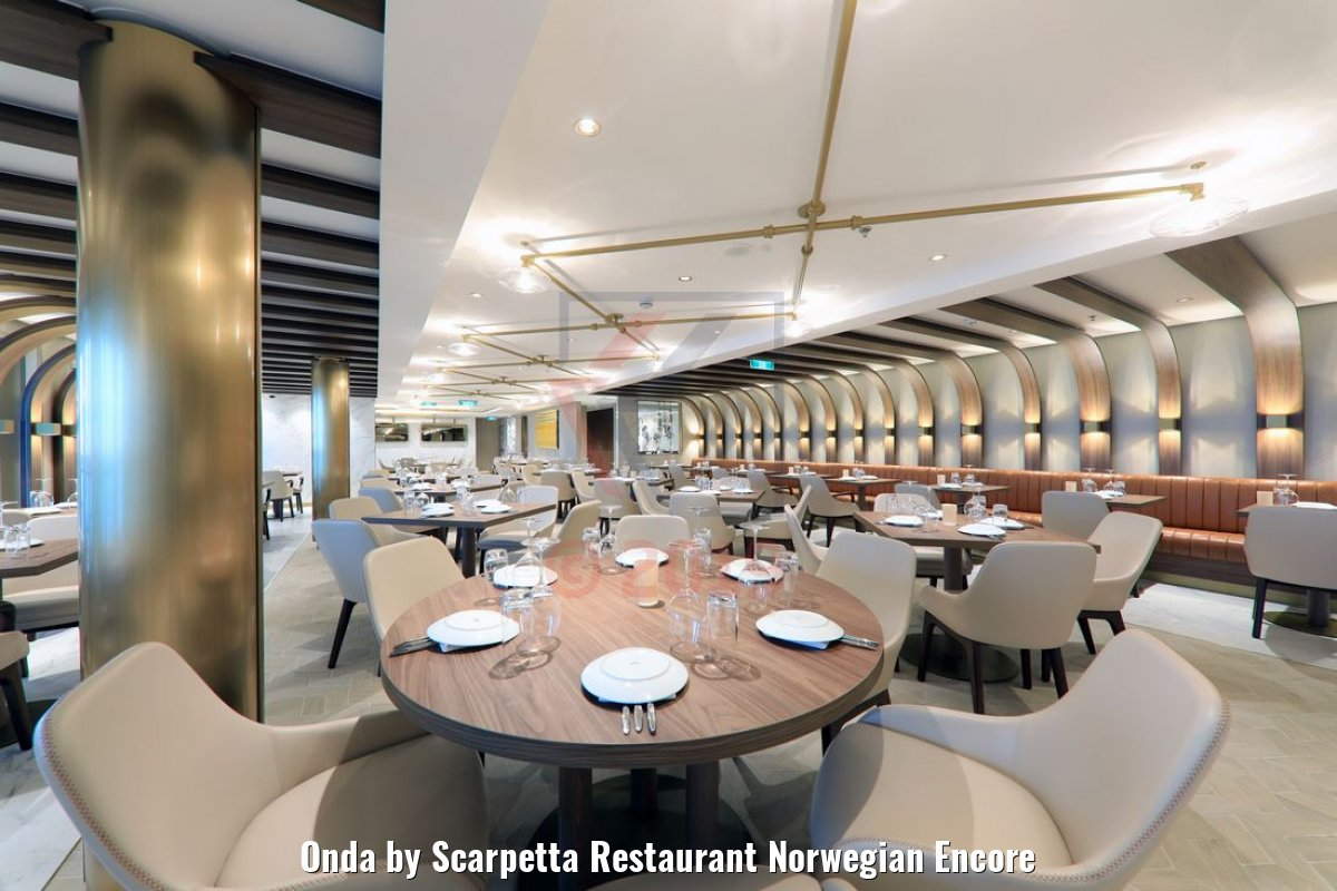 Onda by Scarpetta Restaurant Norwegian Encore