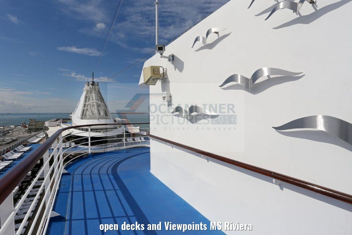 open decks and Viewpoints MS Riviera