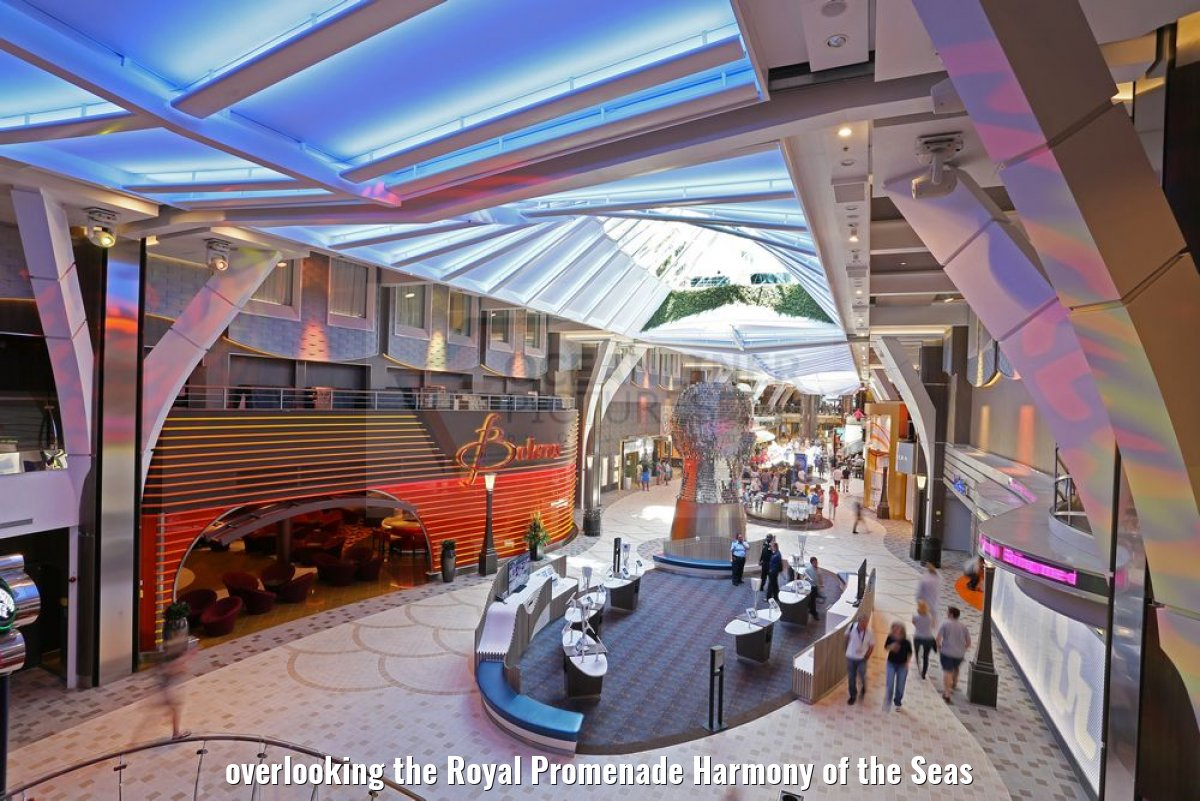 overlooking the Royal Promenade Harmony of the Seas