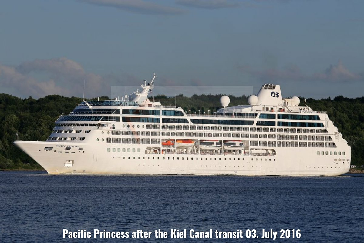 Pacific Princess after the Kiel Canal transit 03. July 2016