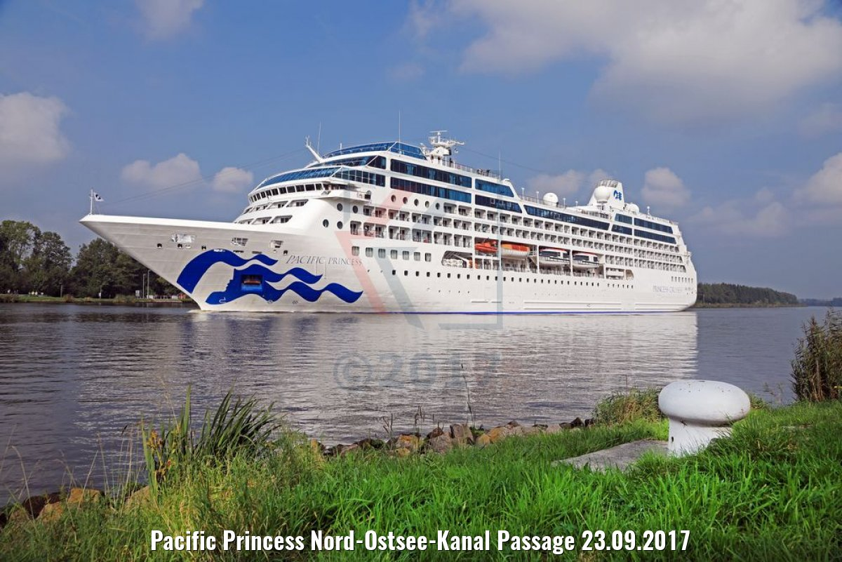 Pacific Princess Nord-Ostsee-Kanal Passage 23.09.2017