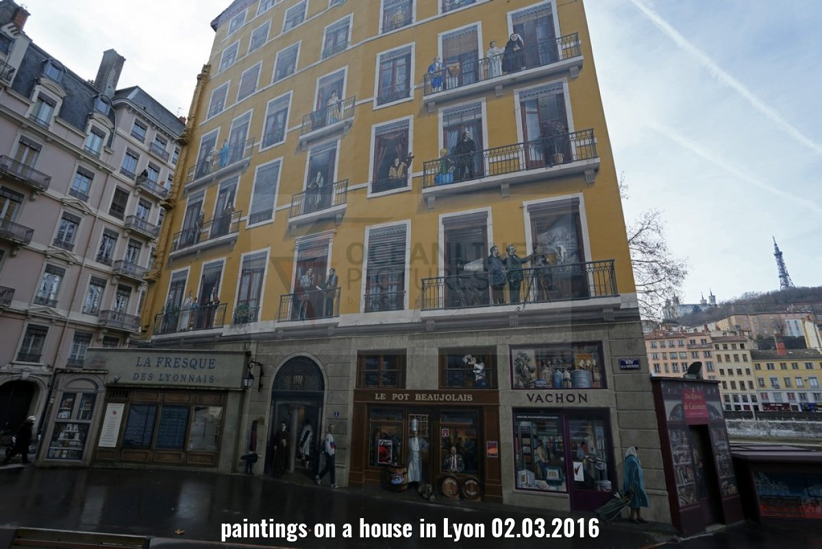 paintings on a house in Lyon 02.03.2016