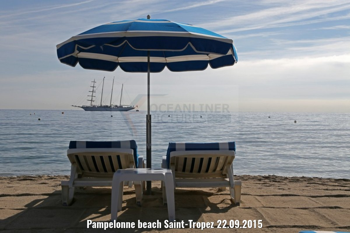 Pampelonne beach Saint-Tropez 22.09.2015