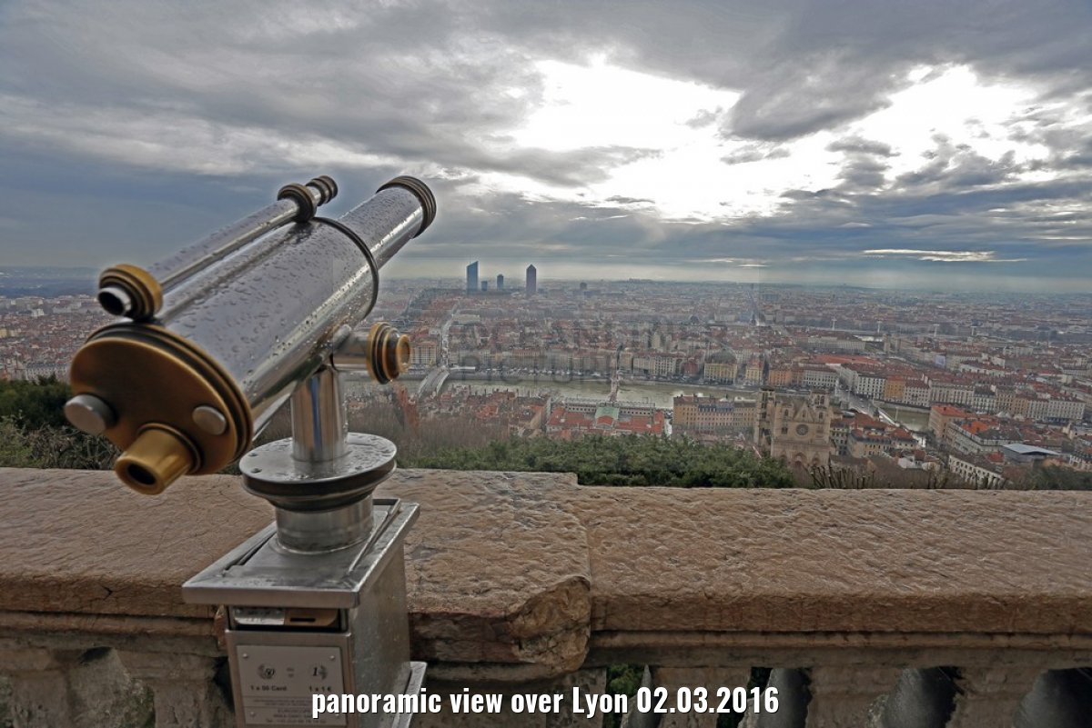 panoramic view over Lyon 02.03.2016