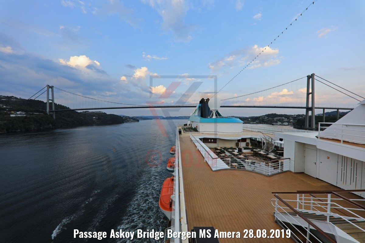 Passage Askoy Bridge Bergen MS Amera 28.08.2019