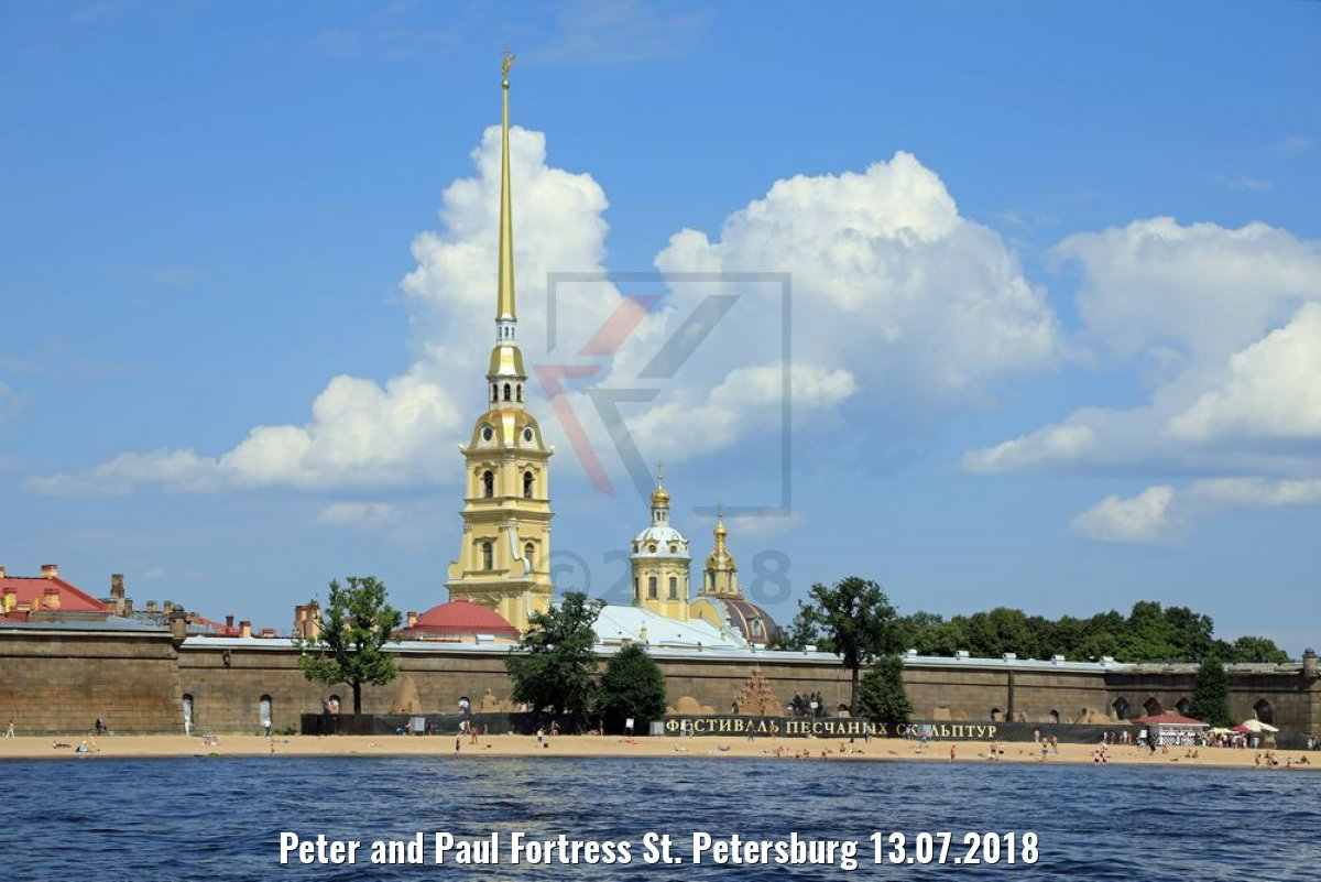 Peter and Paul Fortress St. Petersburg 13.07.2018