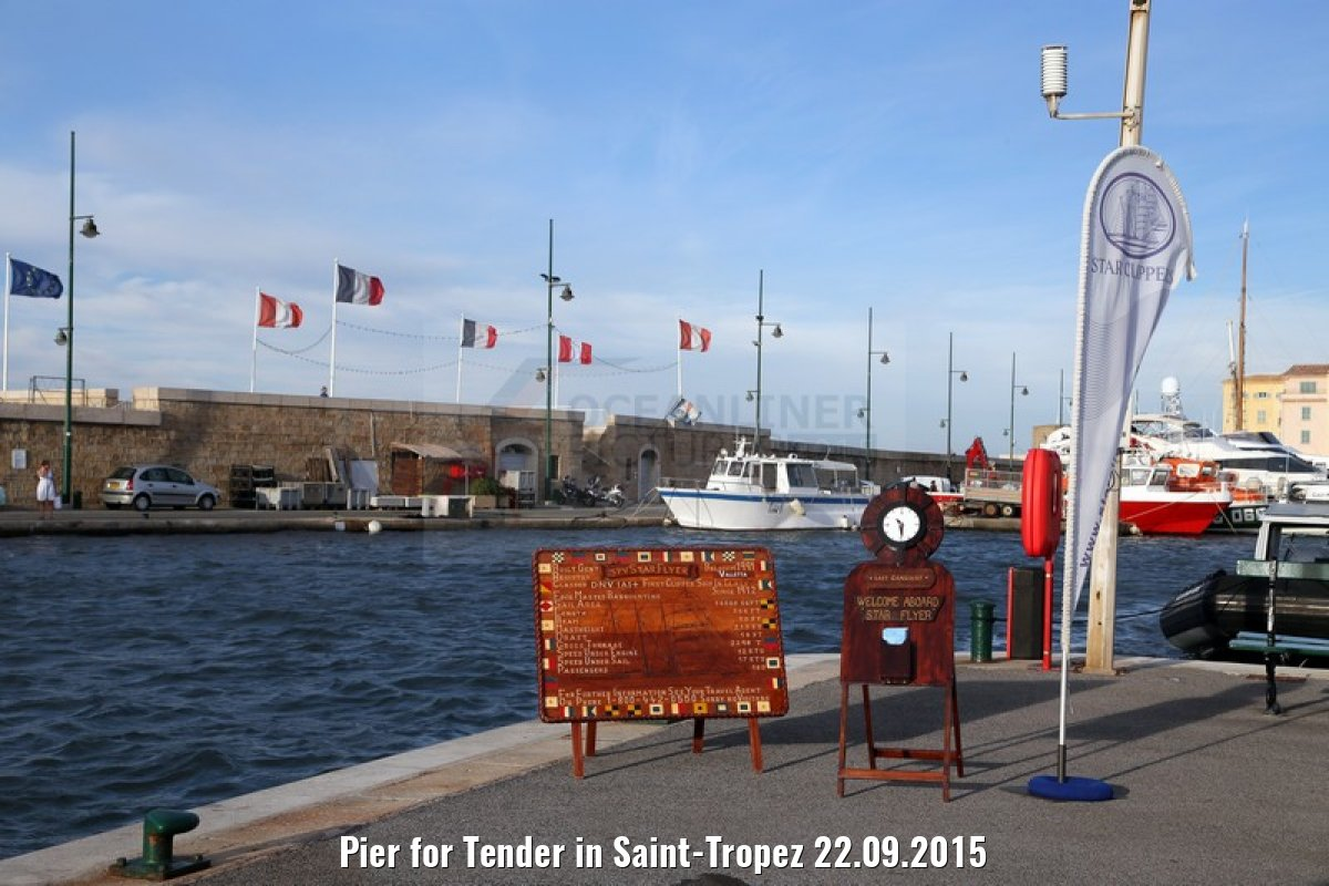 Pier for Tender in Saint-Tropez 22.09.2015