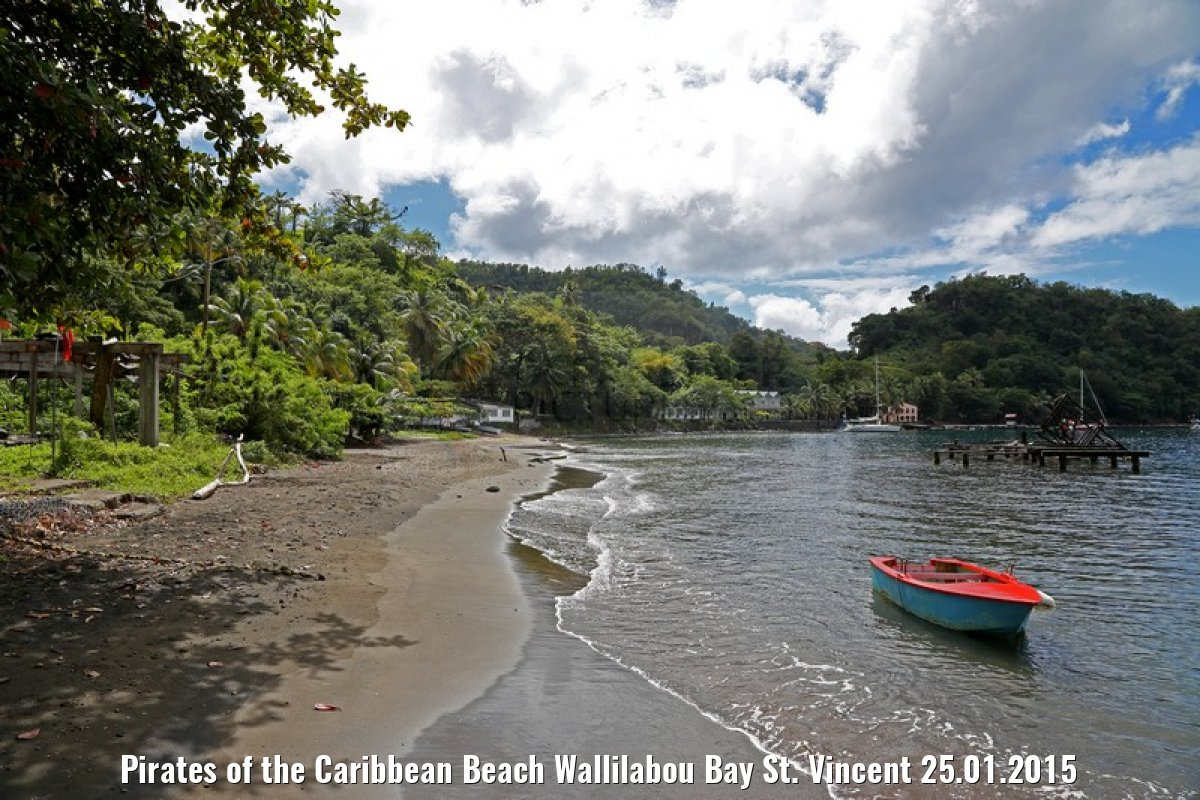 Pirates of the Caribbean Beach Wallilabou Bay St. Vincent 25.01.2015