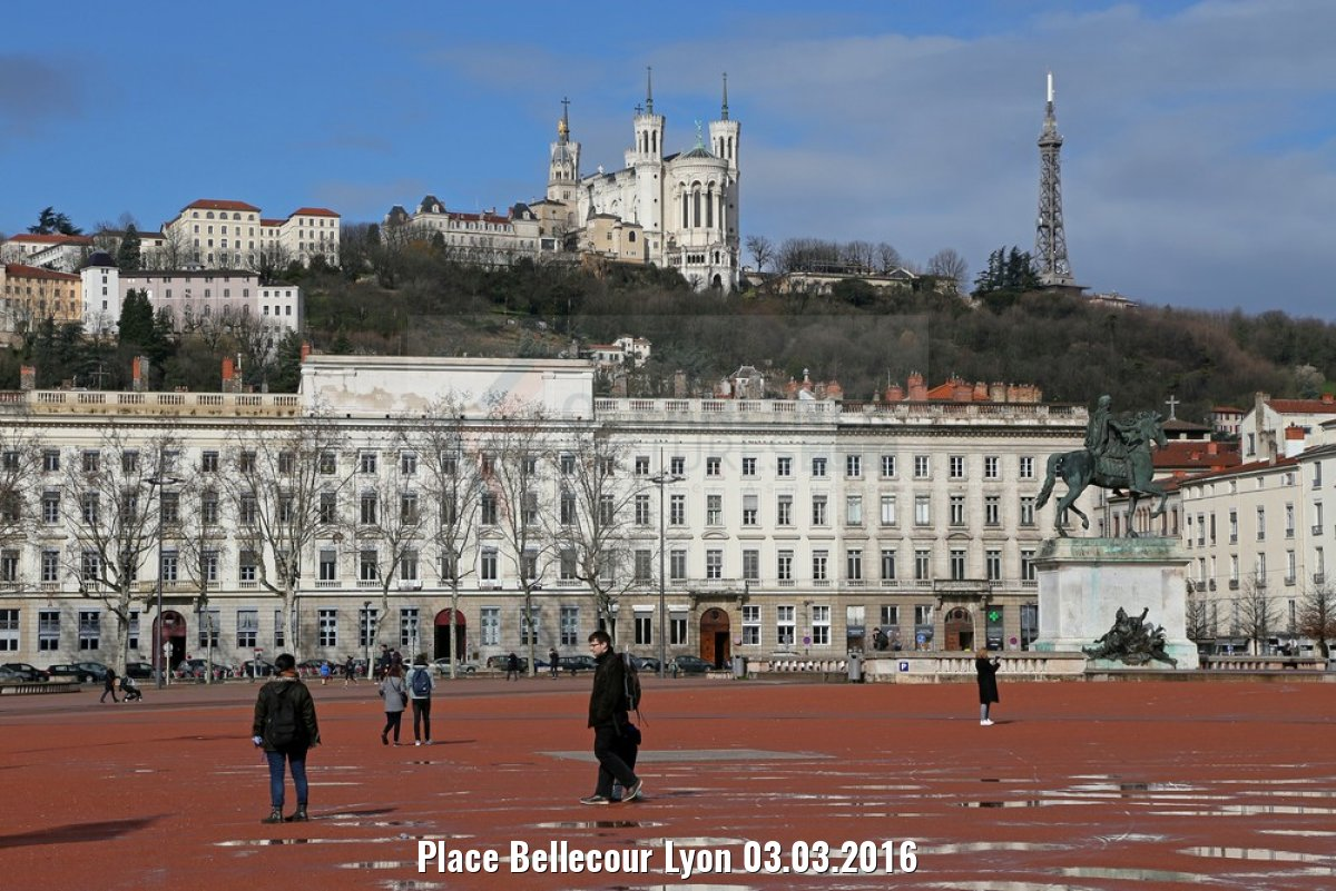 Place Bellecour Lyon 03.03.2016