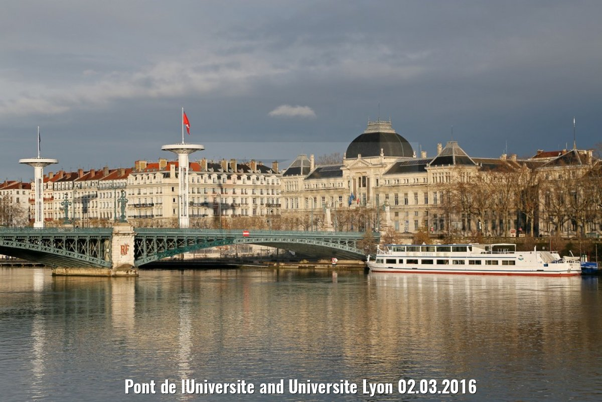 Pont de lUniversite and Universite Lyon 02.03.2016