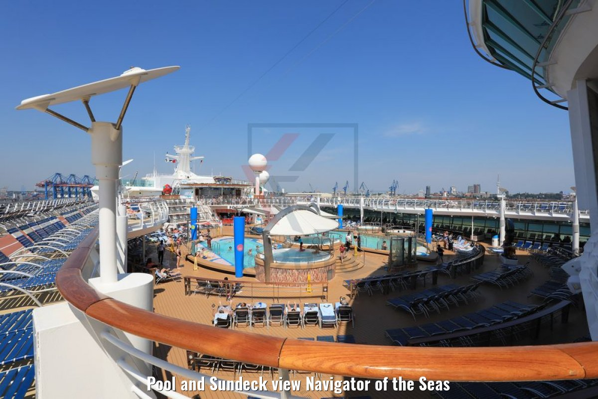 Pool and Sundeck view Navigator of the Seas