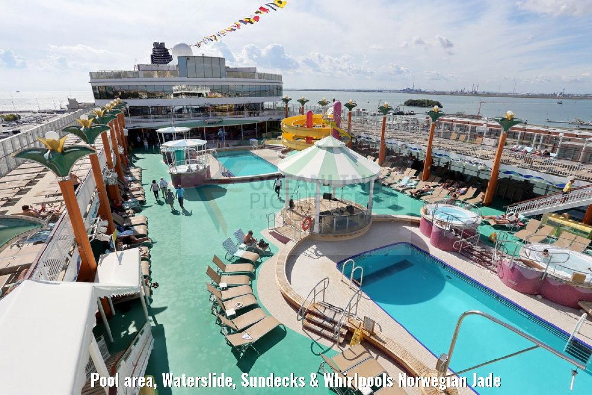 Pool area, Waterslide, Sundecks & Whirlpools Norwegian Jade