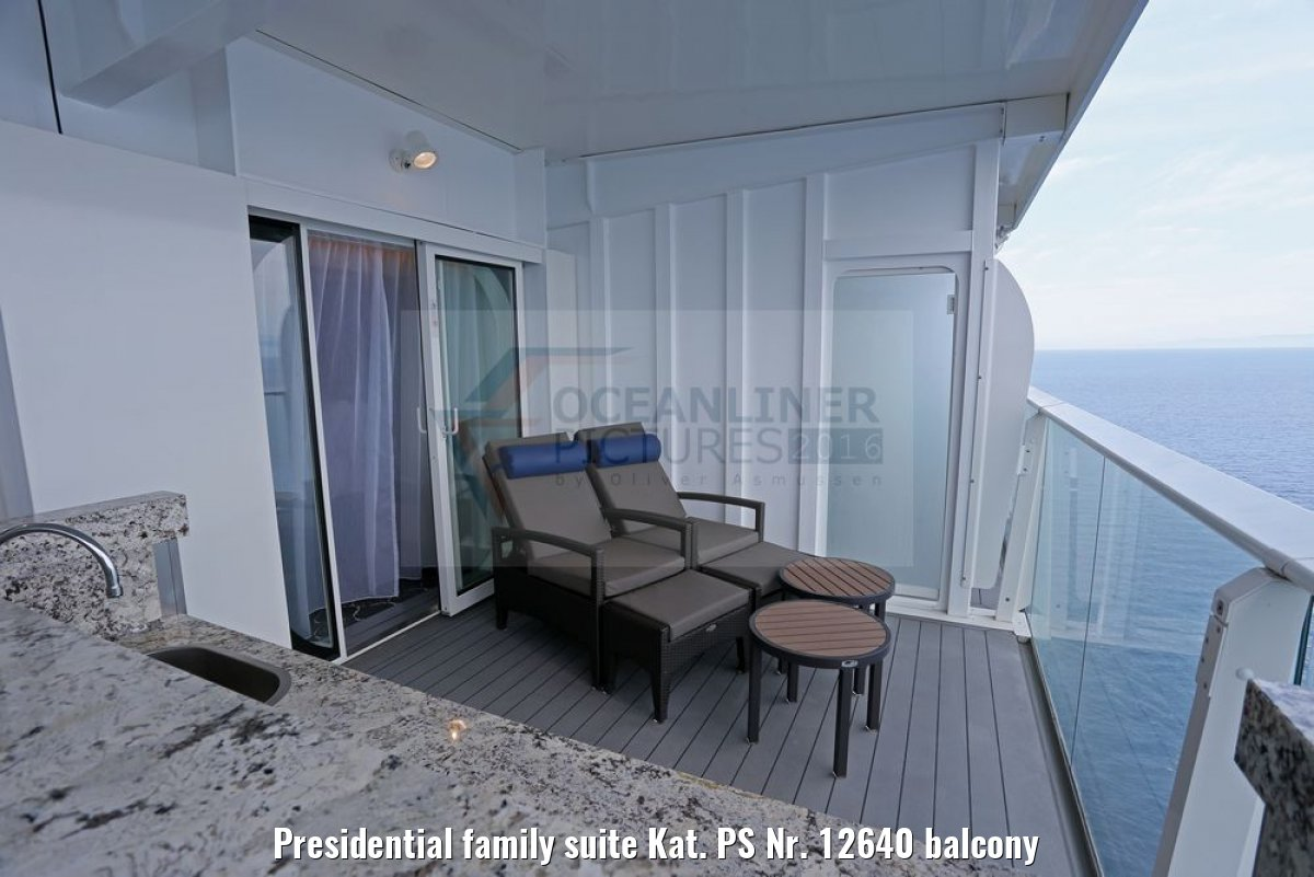 Presidential family suite Kat. PS Nr. 12640 balcony